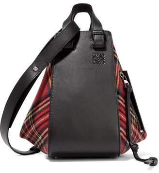 Loewe Hammock Small Canvas-trimmed Leather Shoulder Bag - Black