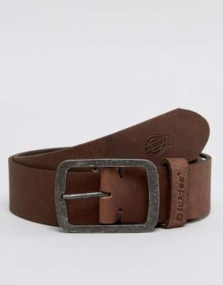 Dickies Eagle Lake leather belt in brown