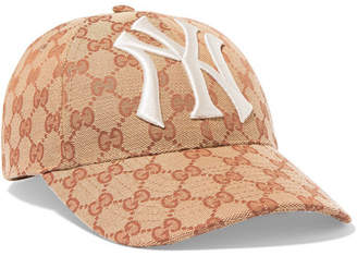 Gucci Embroidered Coated-canvas Baseball Cap - Brown