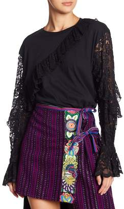 Anna Sui Morning Glory Lace Tee