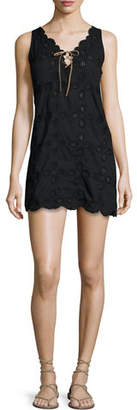 Letarte Doily Sleeveless Crocheted Shift Dress $208 thestylecure.com