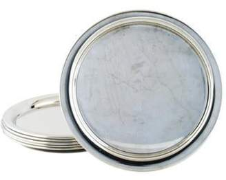 Cartier Set of 6 Pewter Chargers pewter Set of 6 Pewter Chargers