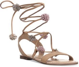 Carlos by Carlos Santana Gia Tie-Up Sandals $59 thestylecure.com