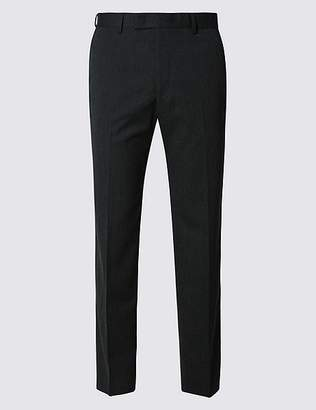 Marks and Spencer Big & Tall Charcoal Slim Fit Trousers
