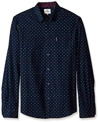 Ben Sherman Men's Long Sleeve Modern Print Shirt