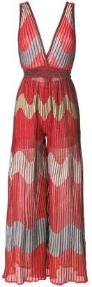 M Missoni printed palazzo jumpsuit