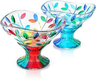 Due Zeta San Marco - Hand Decorated Murano Glass Dessert Bowl