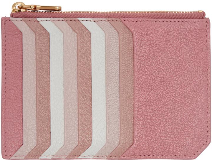 Miu MiuMiu Miu Pink Multi Card Zip Pouch