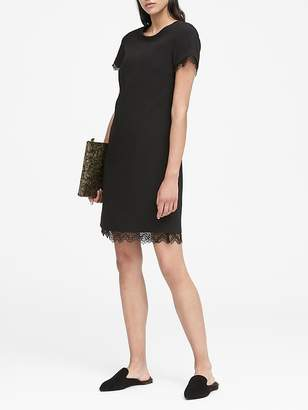 Banana Republic Lace-Trim Shift Dress