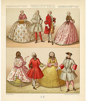 One Kings Lane Vintage French Fashions from the 18th Century - Prints with a Past