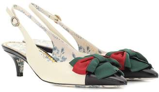 Gucci Leather slingback pumps