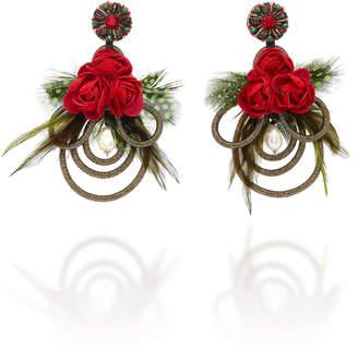 Ranjana Khan Mangueira Floral Embellished Earrings