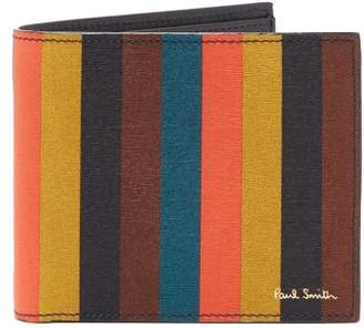 Paul Smith Striped Leather Wallet - Mens - Multi