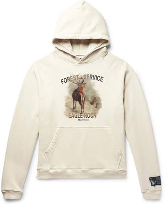 Off-White Reese Cooper® Reese Cooper - Printed Loopback Cotton-Jersey Hoodie - Men
