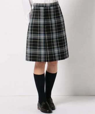 Kumikyoku (組曲) - 組曲KIDS 【140~170cm】ウール綾チェック スカート (リボン付き)