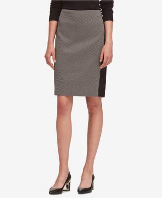 DKNY Colorblocked Pencil Skirt