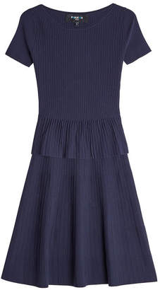 Paule Ka Ribbed Dress with Silk