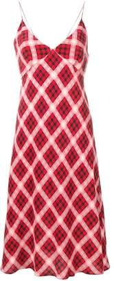 Marc Jacobs plaid spaghetti-strap dress