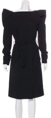 Maison Margiela Wool Off-The-Shoulder Coat