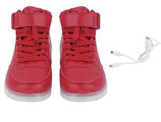 Fashionable YH Women Lady Breathable LED Light Lace Up Luminous Shoes Sneaker