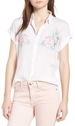 Rails Whitney Embroidered Linen Blend Shirt