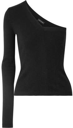 Narciso Rodriguez One-shoulder Cashmere Sweater - Black
