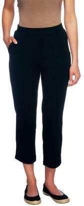 Denim & Co. Active Regular French Terry Crop Pants