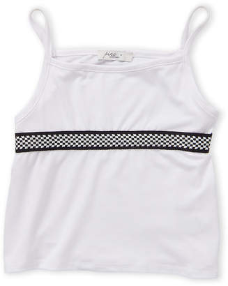 Pinc Premium Girls 7-16) White Checkered Trim Tank