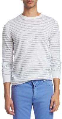 Kiton Stripe Cotton Sweatshirt
