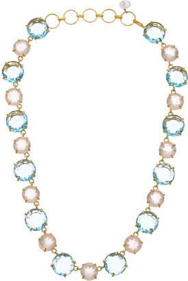 Bounkit 14K Plated Rose Quartz Necklace