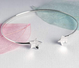 Grace & Valour Hammered Star Bangle On A Personalised Gift Card