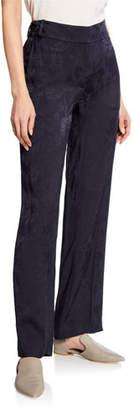 Equipment Lita Straight-Leg Floral-Jacquard Trousers