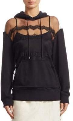 Mesh Hooded Sweatshirt