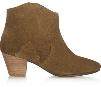 Isabel Marant - étoile The Dicker Suede Ankle Boots - Brown