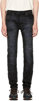 Diesel Black Thommer Scratch Jeans $250 thestylecure.com