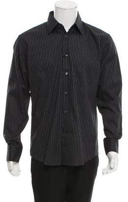 Versace Geometric Print Button-Up Shirt w/ Tags