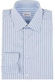 Brioni Men's Double-Striped Cotton Dress Shirt - Lt. Blue