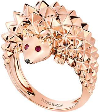Boucheron The Hedgehog 18ct rose-gold and rubie ring