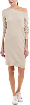 Vince Off-The-Shoulder Wool & Cashmere-Blend Sweaterdress