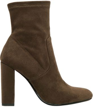 100mm Stretch Microfiber Ankle Boots $126 thestylecure.com
