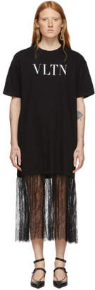 Valentino Black VLTN T-Shirt Dress