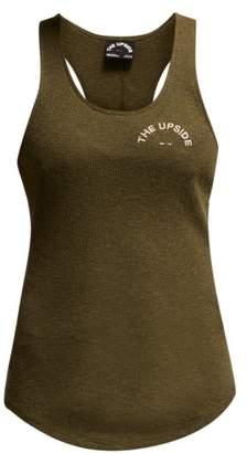 The Upside Soul Rib Cotton Jersey Tank Top - Womens - Khaki