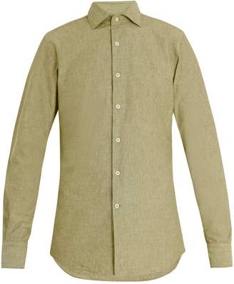 Glanshirt Button-down collar cotton shirt