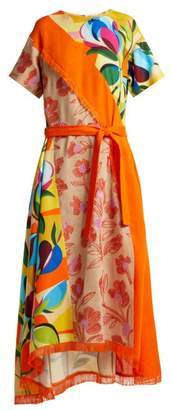 Mary Katrantzou Rosa floral print and embroidered twill dress