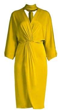 Diane von Furstenberg Draped Choker Dress