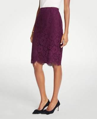 Ann Taylor Petite Lace Pencil Skirt