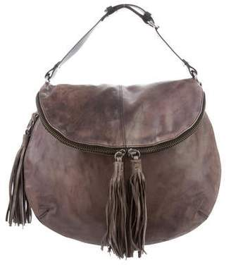 AllSaints Distressed Leather Saddle Bag