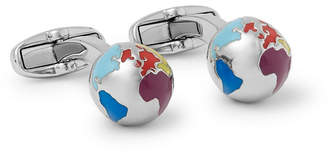 Paul Smith Globe Silver-Tone and Enamel Cufflinks - Men - Silver