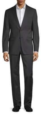 Calvin Klein Slim-Fit Mini Stripe Suit