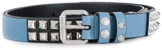 Prada slim studded belt